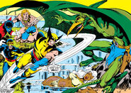 Karl Lykos (Earth-616) and the X-Men (Earth-616) from X-Men Vol 1 115 0001