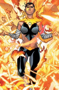 Maya Lopez (Earth-616) and Phoenix Force (Earth-616) from Avengers Vol 8 44 001.jpg