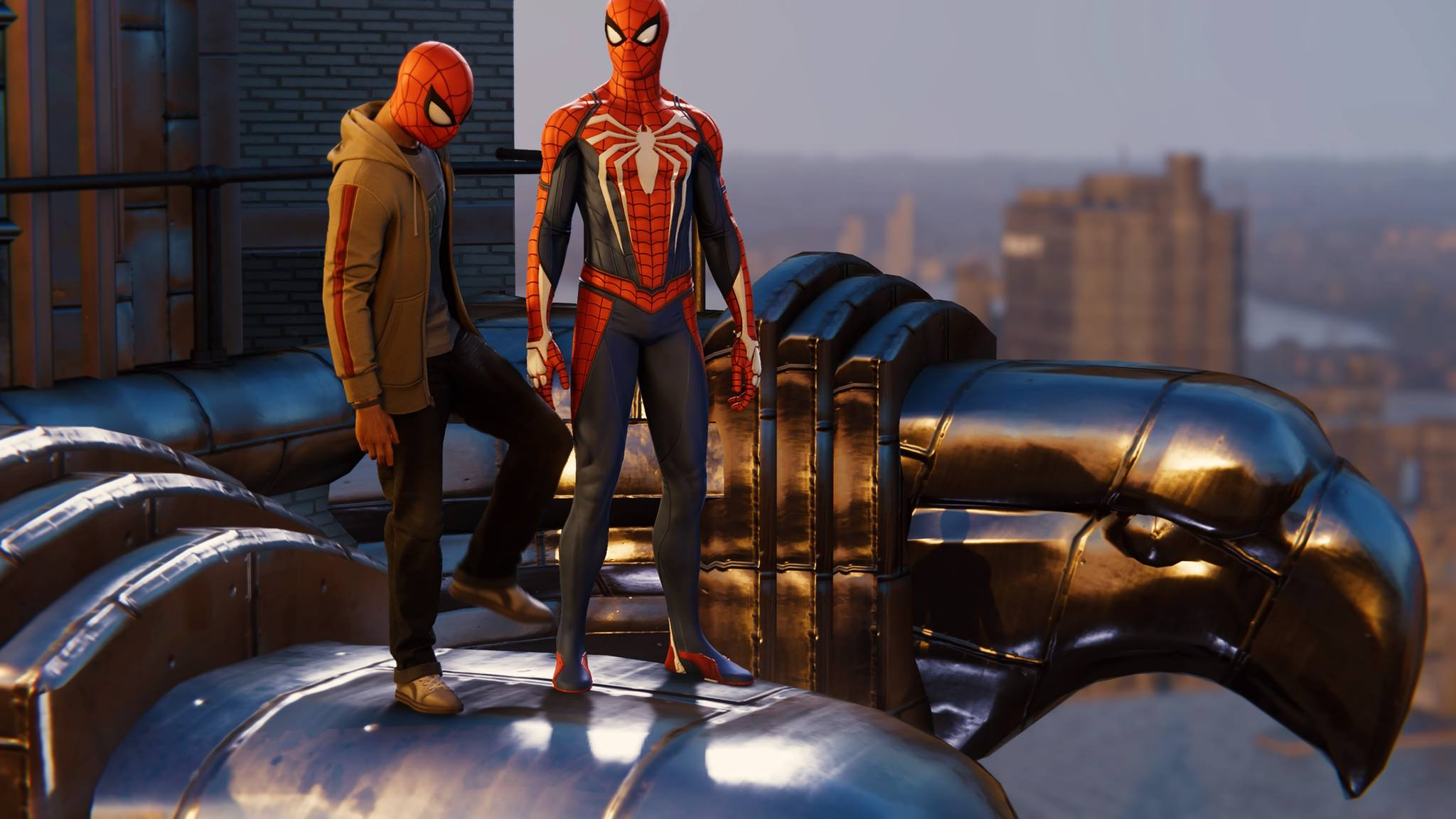 Miles Morales (Earth-1048) and Peter Parker (Earth-1048) from Marvel's Spider-Man (video game) 001.jpg