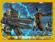 Cable Vol 4 11 Wolverine Vol 7 13 BTC and Slab City Comics Exclusive Connecting Variants Set