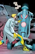 Henry Pym (Earth-616) creating Ultron (Earth-616) from Age of Ultron Vol 1 9 0001