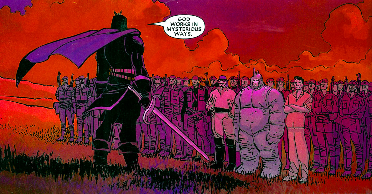 Augustine du Lac (Earth-616) and his army from Black Panther Vol 4 4 0001.png