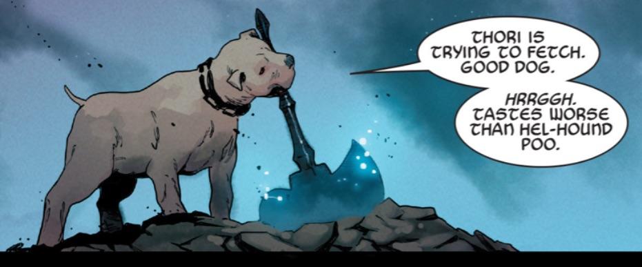 Thori (Earth-616) with Ultimate Mjolnir from Unworthy Thor Vol 1 4 001.jpg