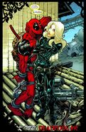 Wade Wilson (Earth-616) and Yelena Belova (Earth-616) from Thunderbolts Vol 1 130 0001