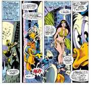 Howard the Duck and Beverly Switzler from Howard the Duck Vol 1 1 003.jpg