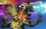 Groot (Earth-TRN562) and Rocket Raccoon (Earth-TRN562) from Marvel Avengers Academy 001