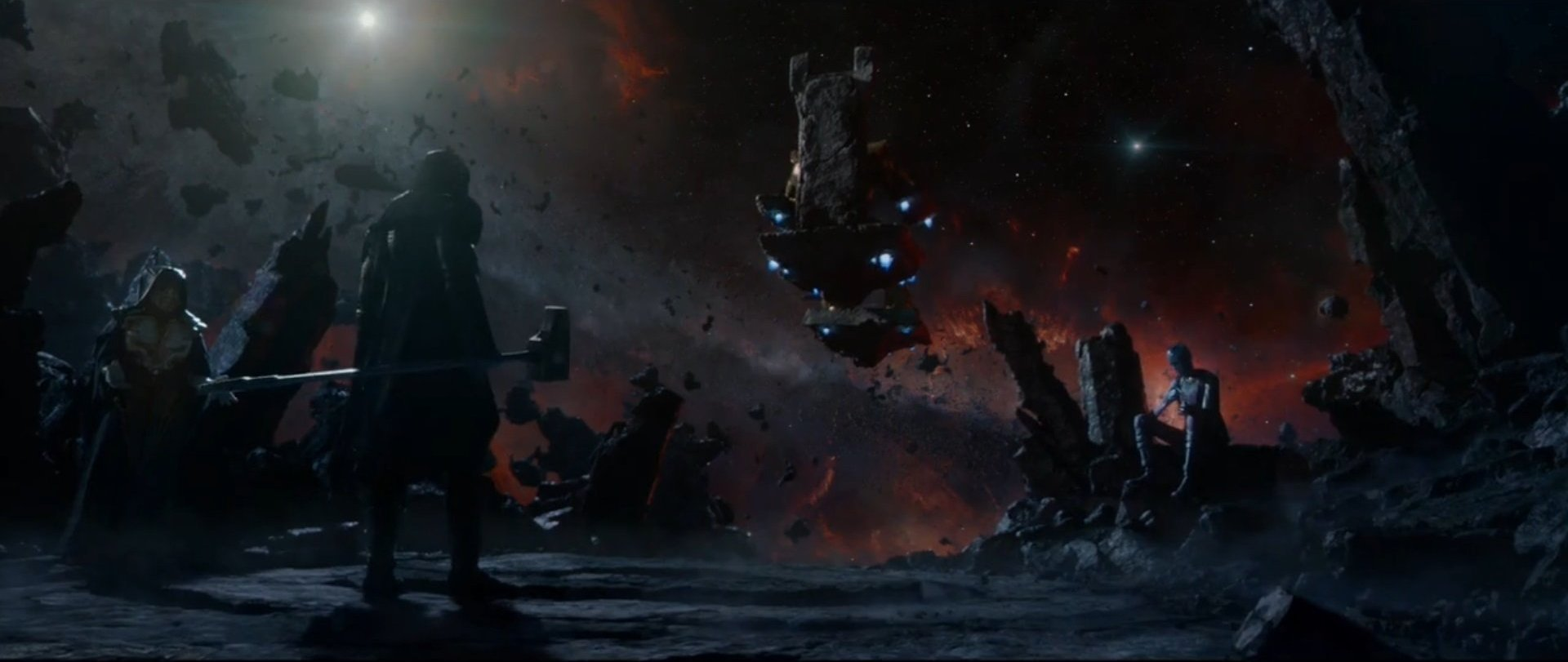 Thanos (Earth-199999), Ronan (Earth-199999), Nebula (Earth-199999), and Other (Chitauri) (Earth-199999) from Guardians of the Galaxy (film) 0001.jpg