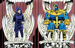 Thanos (Earth-616) and Death (Earth-616) from Thanos Quest Vol 1 2 0001.jpg
