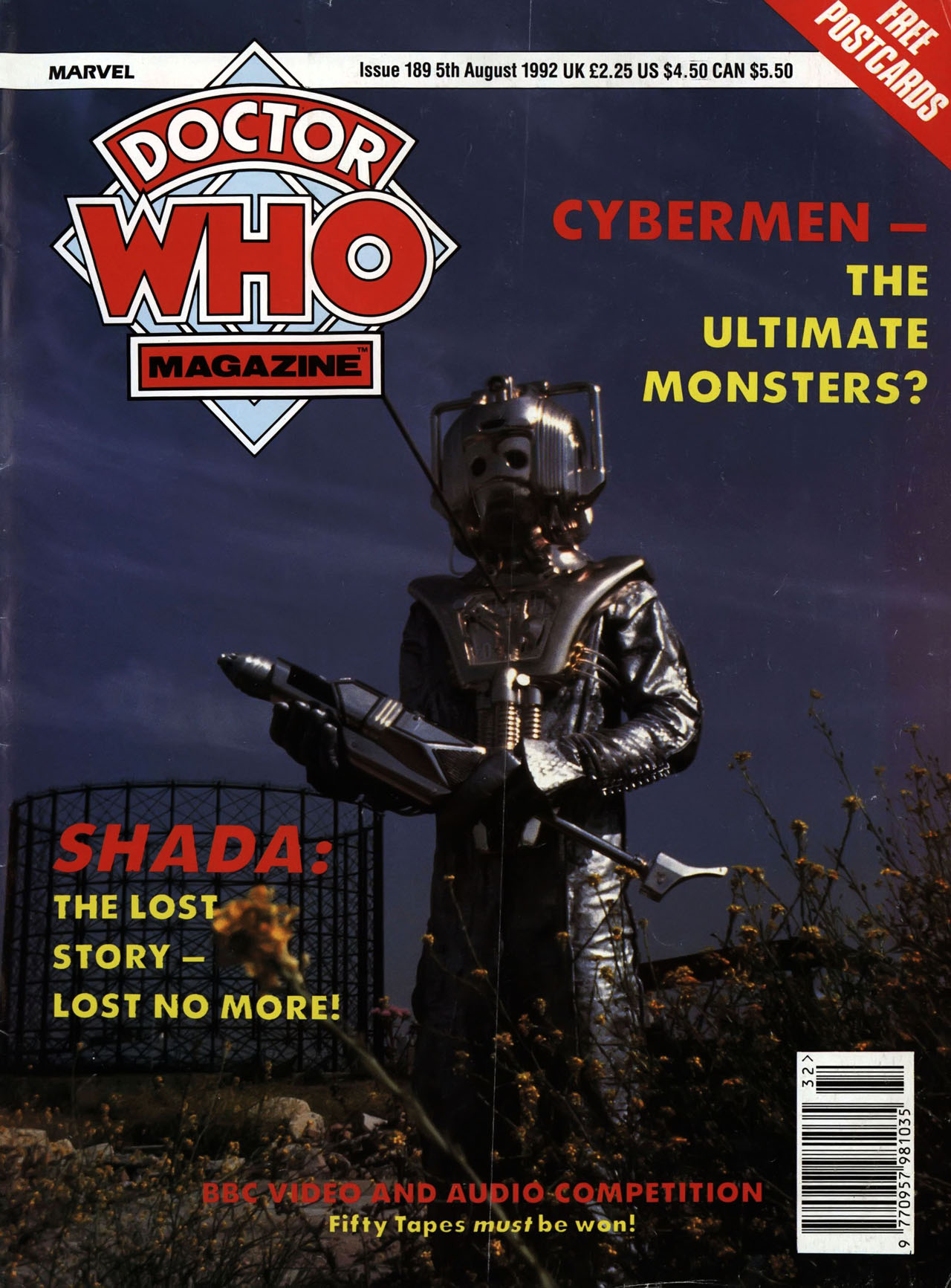 Doctor Who Magazine Vol 1 189