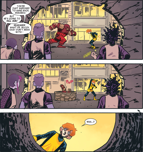Cain Marko (Earth-TRN656) and X-Men (Earth-TRN656) from X-Men Worst X-Man Ever Vol 1 4 0001.png
