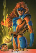 Jean Grey (Earth-616) from X-Men (Trading Cards) 1996 Set 0001