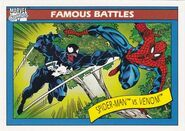 Peter Parker vs. Edward Brock (Earth-616) from Marvel Universe Cards Series I 0001