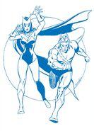 Wanda Maximoff (Earth-616) and Pietro Maximoff (Earth-616) from FOOM Vol 1 6 001