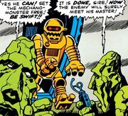 Mechano Monster (Earth-616) and Kronans from Journey into Mystery Vol 1 83 001.jpg