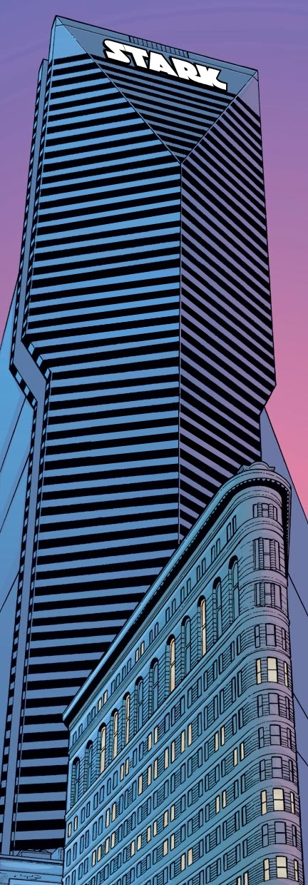 Stark Tower (Flatiron District) from Iron Man Vol 3 1 001.jpg