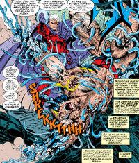 James Howlett (Earth-616) and Max Eisenhardt (Earth-616) from X-Men Vol 2 25 0001.jpg
