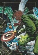 Steven Rogers and Johann Schmidt (Earth-616) from Marvel Masterpieces Trading Cards 1992 Battle Cards 0001