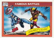 Steven Rogers vs. James Howlett (Earth-616) from Marvel Universe Cards Series I 0001