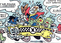 X-Bugs (Earth-8311) and X-Checker from Peter Porker, The Spectacular Spider-Ham Vol 1 2 0001.jpg