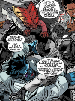 X-Men (Earth-TRN338) and T'Challa (Earth-TRN338) from AVX Vs Vol 1 6 0001.png