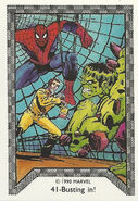 Bruce Banner (Earth-616) and Peter Parker (Earth-616) from Spider-Man Team-Up (Trading Cards) 003