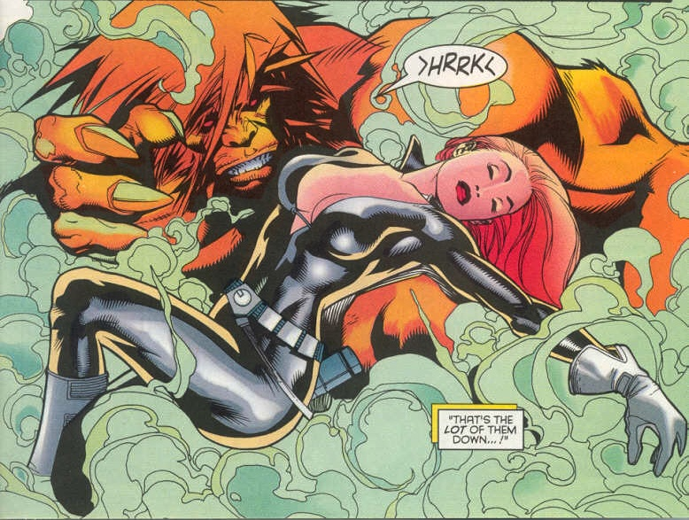 Heather McNeil (Earth-616) and Walter Langkowski (Earth-616) from Wolverine Vol 2 142 001.jpg