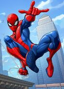 Peter Parker (Earth-17628) from Marvel's Spider-Man (animated series) promotional art 007