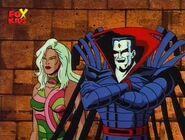 Nathaniel Essex (Earth-92131) and Vertigo (Savage Land Mutate) (Earth-92131) from X-Men The Animated Series Season 4 11 0001