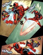 Wade Wilson (Earth-616) vs. Evil Deadpool (Earth-616) from Deadpool Vol 4 49 001.jpg