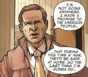 George W. Bush (Earth-616) from Avengers The Initiative Vol 1 2 001.jpg