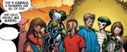 Kamala Khan (Earth-616), Elejea (Earth-616), Jaycen (Earth-616), Naja (Earth-616), Gabriela Pertuz (Earth-616), and Dante Pertuz (Earth-616) from Inhuman Vol 1 9 001