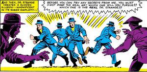 Stephen Strange (Earth-616) with Images of Ikonn from Strange Tales Vol 1 130 001.jpg