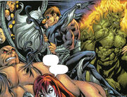 Felicia Hardy (Earth-Unknown) and Otto Octavius (Earth-Unknown) from Ultimate Spider-Man Vol 1 70 001.jpg