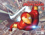 Invincible Iron Man Vol 3 1 Wraparound