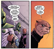 Otta Spice (Earth-616) and Rocket Raccoon (Earth-616) from Rocket Vol 1 1 001