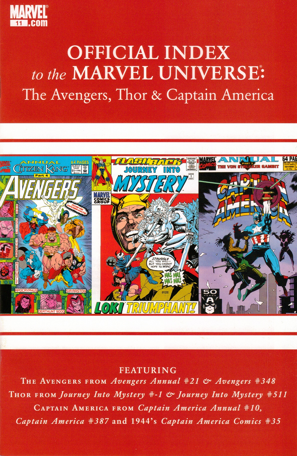 Avengers, Thor & Captain America: Official Index to the Marvel Universe Vol 1 11