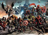 Avengers (Earth-616), X-Men (Earth-616) and X-Men (New Charles Xavier School) (Earth-616) from Original Sin Vol 1 2 001