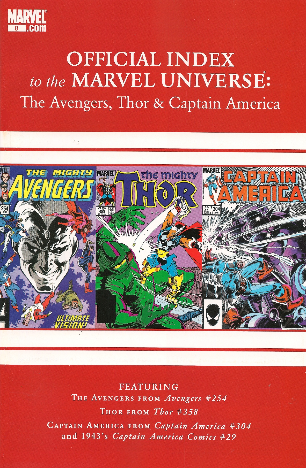 Avengers, Thor & Captain America: Official Index to the Marvel Universe Vol 1 8