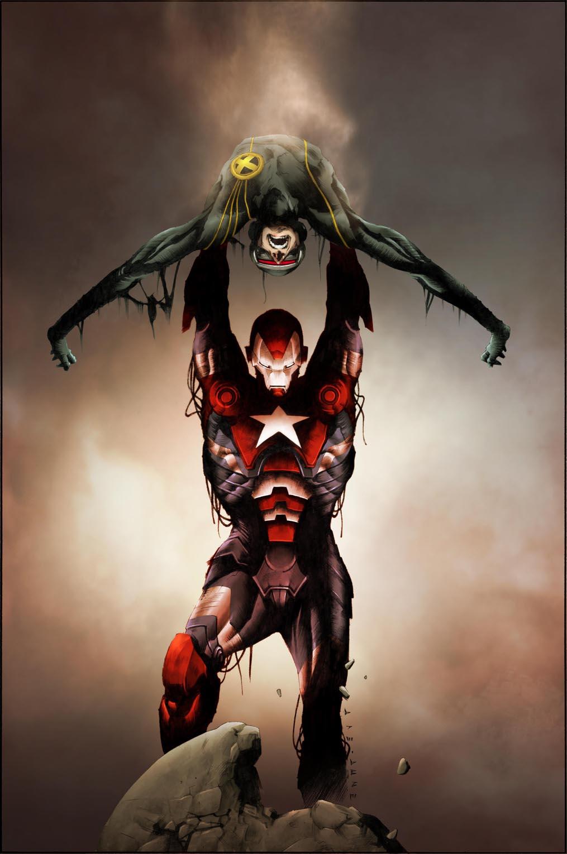 Dark Avengers Uncanny X-Men Utopia Vol 1 1 Jae Lee Variant Textless.jpg