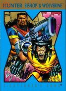 Lucas Bishop (Earth-1191) and James Howlett (Earth-616) from 1992 X-Cutioner's Song (Trading Cards) 001