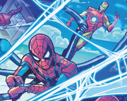 Peter Parker (Earth-199999) and Anthony Stark (Earth-199999) from Spider-Verse Vol 3 1 001.png