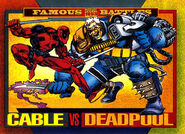 Wade Wilson (Earth-616) and Nathan Summers (Earth-616) from Marvel Universe Cards Series IV 0001