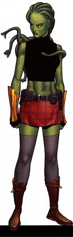 Delphyne Gorgon (Earth-616) from Official Handbook of the Marvel Universe A-Z Update Vol 1 2 0001.jpg