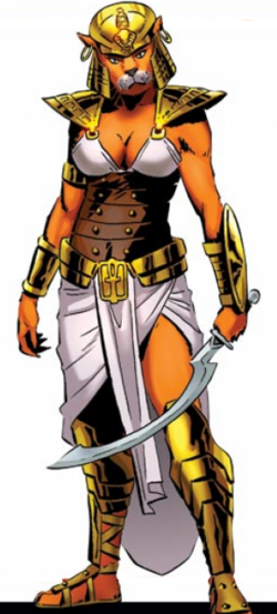 Hathor-Sekhmet (Earth-616) from Avengers Roll Call Vol 1 1 0001.png