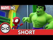A Helping Hulk - Marvel's Spidey and His Amazing Friends - @Disney Junior @Marvel HQ