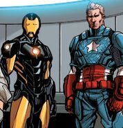 Anthony Stark (Earth-616) and Steven Rogers (Earth-616) from Avengers Vol 5 17 001