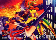 Rogue (Anna Marie) (Earth-616) and Carol Danvers (Earth-616) from Ultra X-Men (Trading Cards) 1995 Set 001