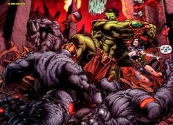 Umar (Earth-616) Bruce Banner (Earth-616) Dark Dimension (Earth-616) Incredible Hulks Vol 1 633.png