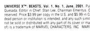 Universe X Beasts Vol 1 1 Indicia