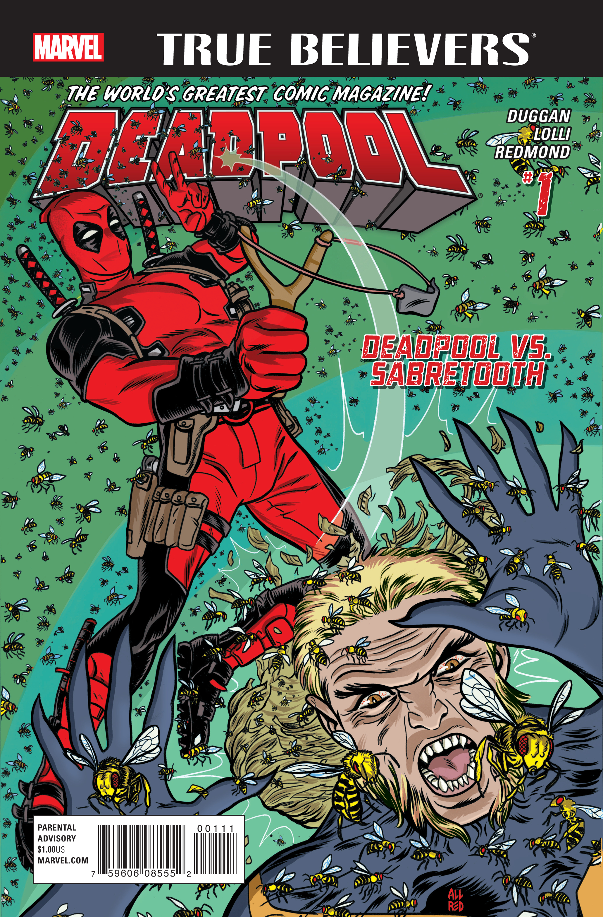 True Believers: Deadpool - Deadpool vs. Sabretooth Vol 1 1